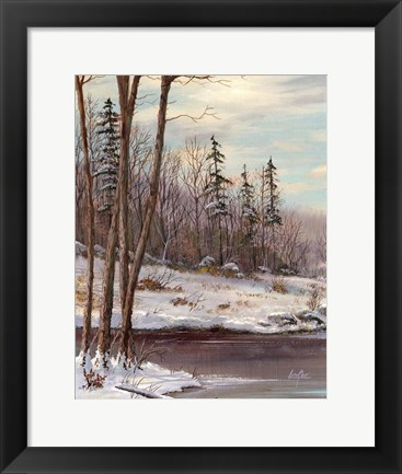Framed Snow Print