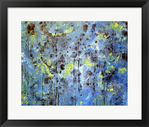 Framed Blue Forest Print