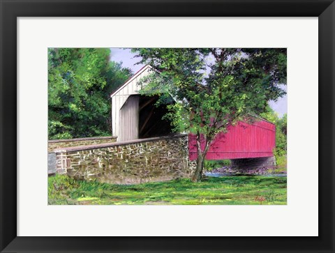 Framed Covered Bridge Print