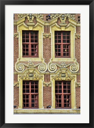 Framed Four French Windows Print