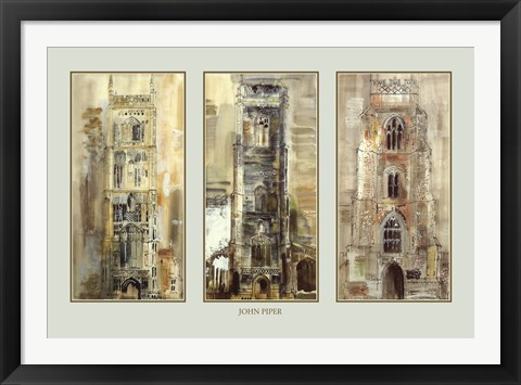 Framed Three Suffolk Towers Print
