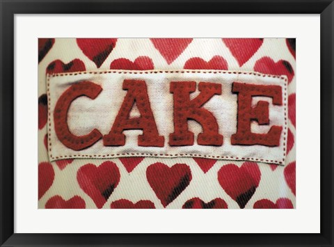Framed Cake Label Print