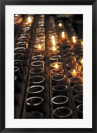 Framed Church Candles Print