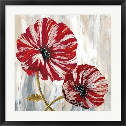 Framed Red Poppies I Print