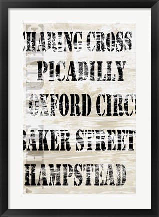 Framed Over and Under London Transit Print