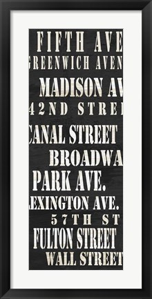 Framed NYC Streets Print
