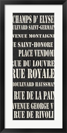 Framed Paris Streets Print