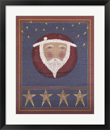 Framed 1 Full Moon Santa Print