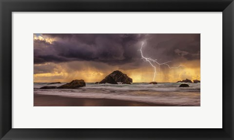 Framed Storm At Face Rock1 Print