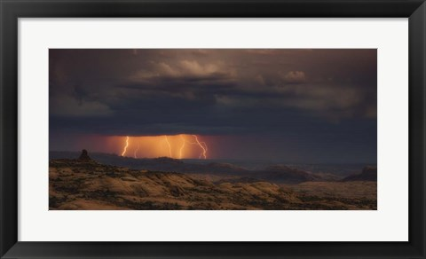 Framed Arches Light Show Print