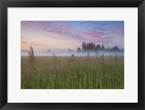 Framed Battle Ground Sunrise Print