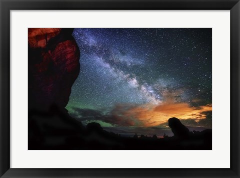 Framed Double Arch View Print