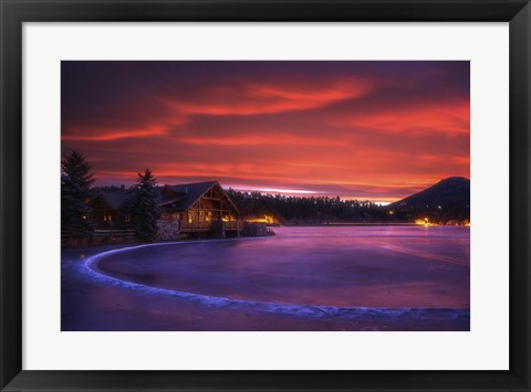 Framed Everygreen Lake Sunrise Print