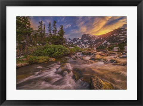 Framed Indian Peaks Sunset Print