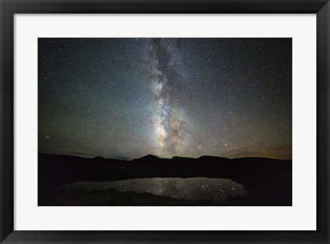 Framed Milky Way Indy Pass Print