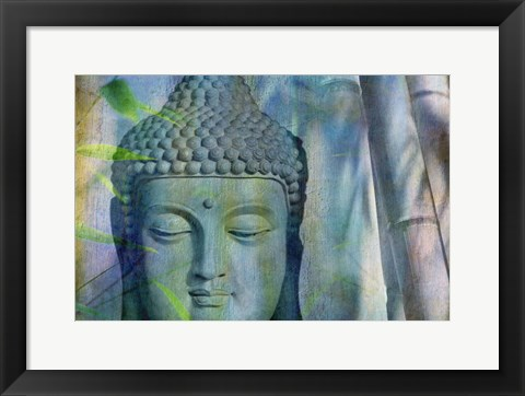 Framed Budha with Bamboo Print