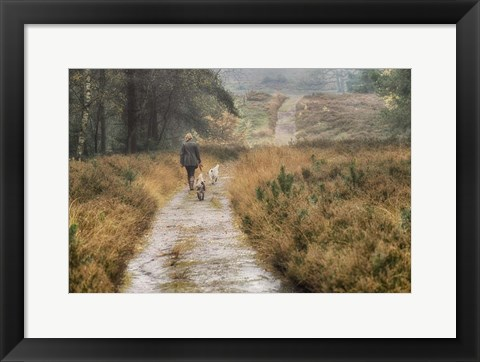 Framed Walking the Dogs Print