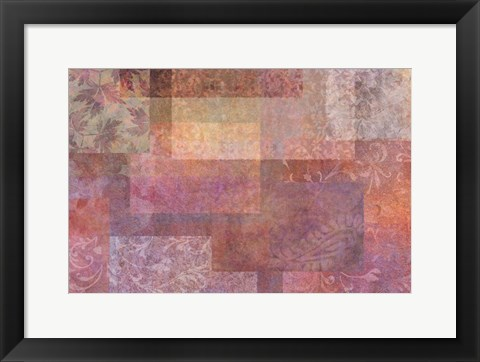 Framed Stylish Patterns Rosy Brown Print