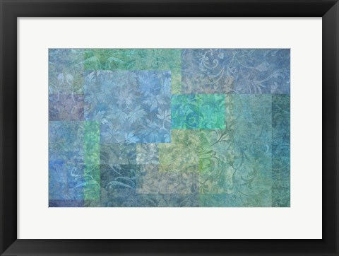 Framed Stylish Patterns Sea Blue Print