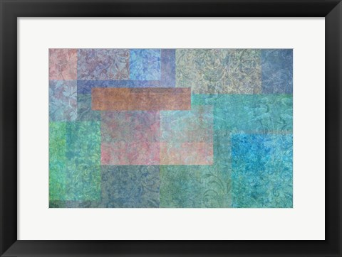 Framed Stylish Patterns Turquoise Print