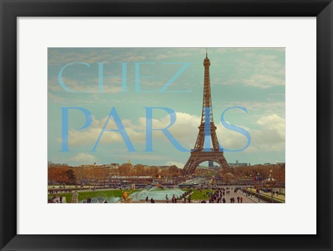 Framed Chez Paris with Eiffel Tower Print