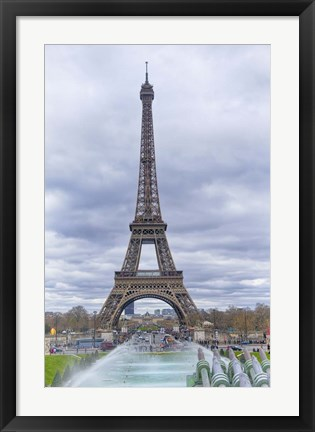Framed Eiffel Tower and Jardin du Trocadero Print