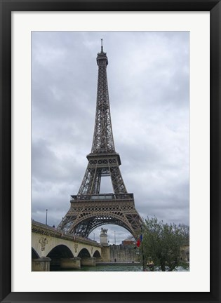 Framed Eiffel Tower and Pont d'Iena Paris Print