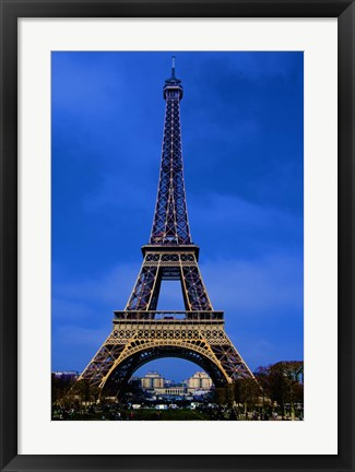 Framed Eiffel Tower Blue Hour Print