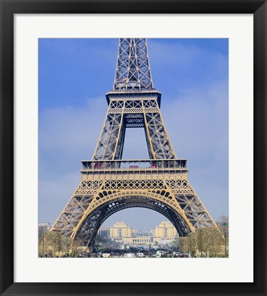 Framed Eiffel Tower First and Second Platform Print