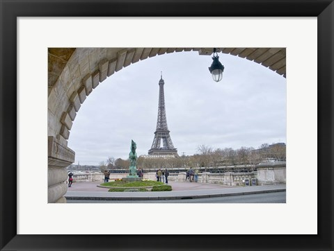 Framed Eiffel Tower from Viaduc de Passy in Paris Print