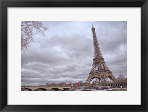 Framed Eiffel Tower, Seine and Pont d'Iena Print
