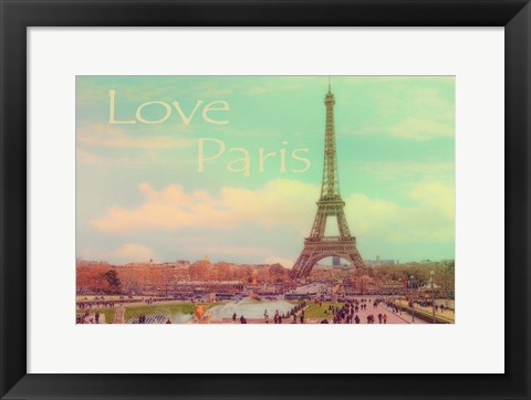 Framed Love Paris Eiffel Tower Print