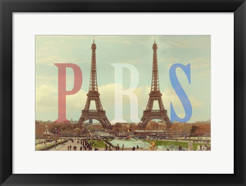 Framed Paris with Two Eiffel Towers Print