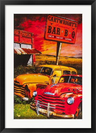 Framed Cartwrights BBQ Print