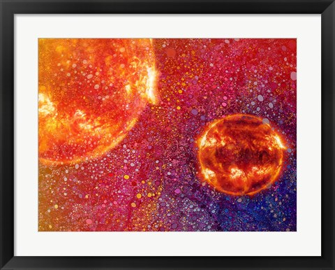 Framed Two Suns Print