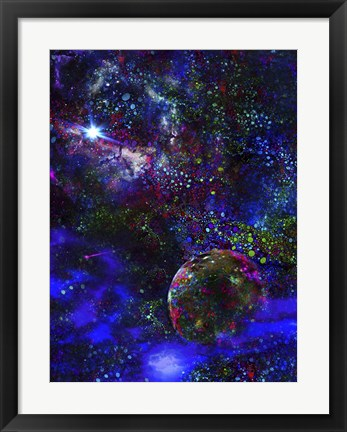 Framed Orphan Planet, Distant Star Print