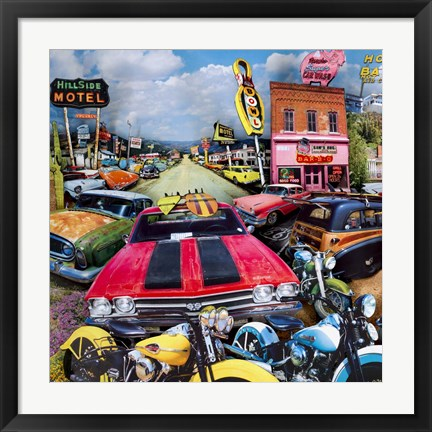 Framed Pacific Paradise Motel 1 Print