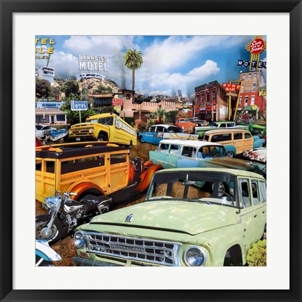 Framed Pacific Paradise Motel 2 Print