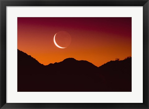 Framed Red Sky Moon Print