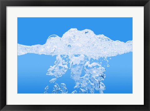 Framed Water Bubbles Print