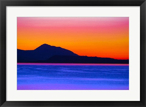 Framed Colorful Skyline Print
