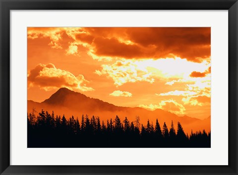 Framed Sun Through the Clouds Print