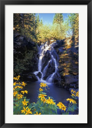Framed Rocky Waterfall Print
