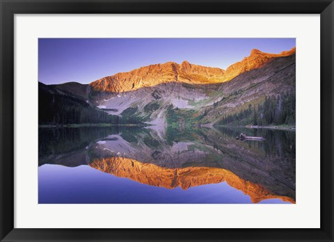 Framed Mountain Reflection Print