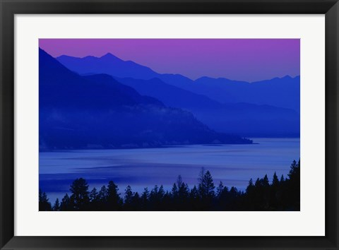 Framed Blue and Purple Mountains Print