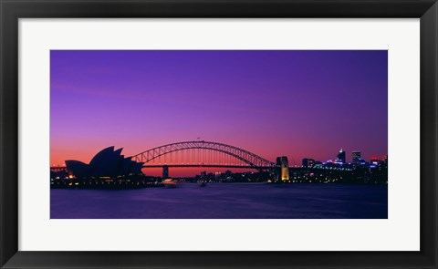Framed Bridge in Sydney Print