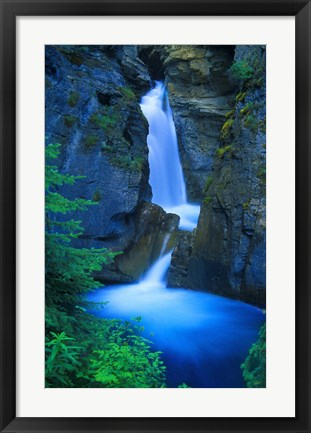 Framed Blue Waterfall Print