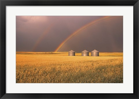 Framed Rainbows Over the Plains Print