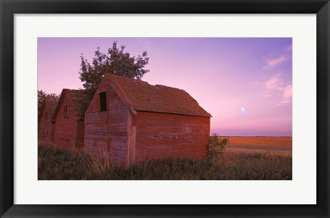 Framed Moon in the Country Print