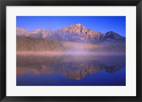 Framed Mountain Reflection with Fog Print